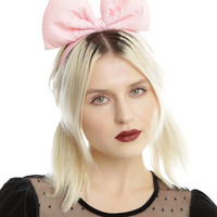 Large Pastel Pink Bow Headband