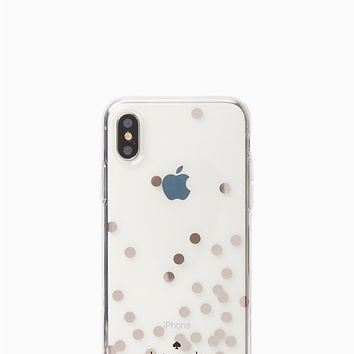 confetti rose gold foil iphone x case | Kate Spade New York