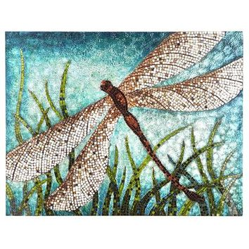 Dragonfly Wall Panel - Teal