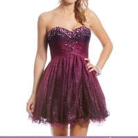 Dylana-Purple Homecoming Dress