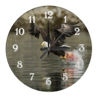 Extreme Catch Wall Clock from Zazzle.com