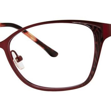Dana Buchman - Sue Ellen 52mm Cranberry Eyeglasses / Demo Lenses
