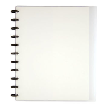 TUL™ Custom Note-Taking System Discbound Notebook, Letter Size, Poly Cover, Clear Item # 954314