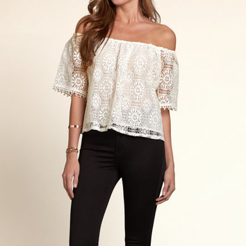 Newport Peninsula Off-The-Shoulder Shirt