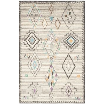 Safavieh Handmade Kenya Natural/ Multi Wool Rug (9' x 12') | Overstock.com Shopping - The Best Deals on 7x9 - 10x14 Rugs