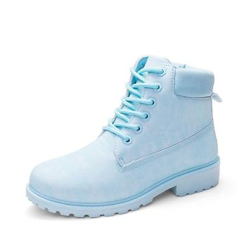 Suede Pastel Boots