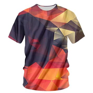 Cool Fashion Stereoscopic Graphic Print Unisex Tee