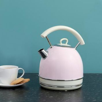 Candy Rose Collection Traditional Pink Kettle | Dunelm
