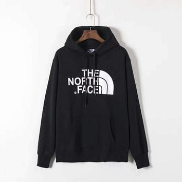 THE NORTH FACE Men Fashion Splicing Print Long Sleeve Hoodie Pullover Sweater G-ZDL-STPFYF-2