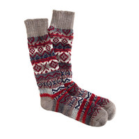 J.Crew Mens Fair Isle Camp Socks