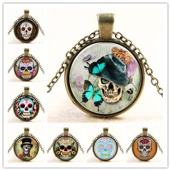 Skull Necklace Sugar Skull Necklace Pendants Skull Necklace