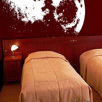 Vinyl Wall Decal Sticker Moon flowing in Space #523