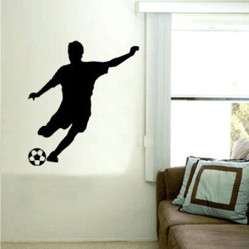 SOCCER PLAYER Vinyl Wall Art Decal
