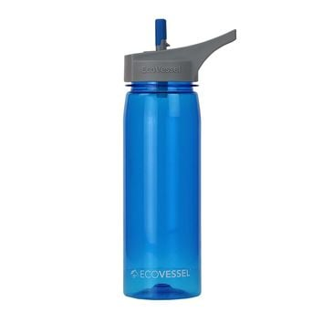 THE WAVE - BPA Free Sports Water Bottle With Straw - 25oz