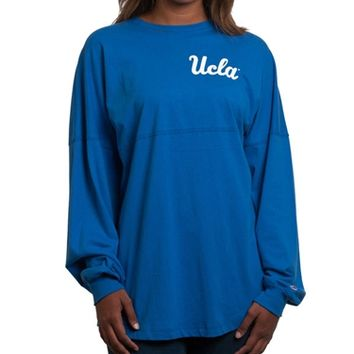 UCLA Store - *UCLA Women's Small Script Long Sleeve Tee - Blue