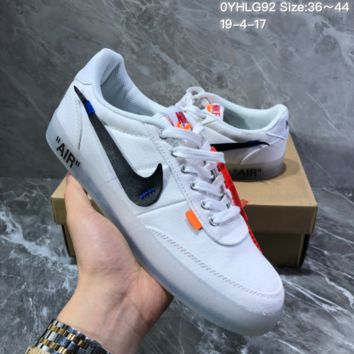 hcxx N1272 Off White Nike Air Wmns Killshot 2 Leather TXT Crystal transparent low skateborad shoes white Black