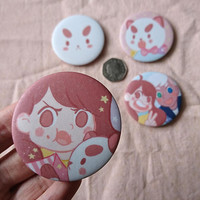 Bee and puppycat ( donut wedding ) 58mm badges