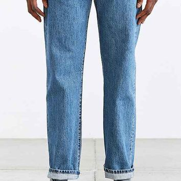 Levi's 501 Medium Stone Wash Straight-Fit Jean- Vintage Denim Medium