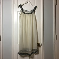 Authentic Vintage 50's women's polka dots night gown sz M