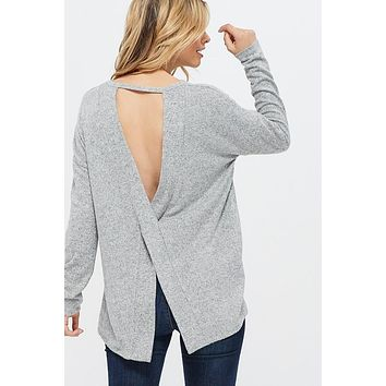 The Miranda Open Back Sweater