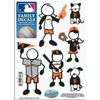 San Francisco Giants MLB Family Car Decal Set (Small)