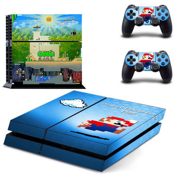 Super mario Bros skin for ps4 console decal sticker