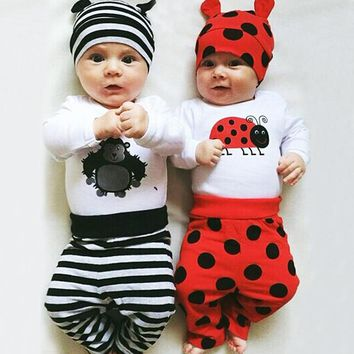 2016 Infant Romper Baby Boys Girls Jumpsuit New born Bebe Clothing Baby Clothes Cute Ladybug Romper Baby orangutan Costumes
