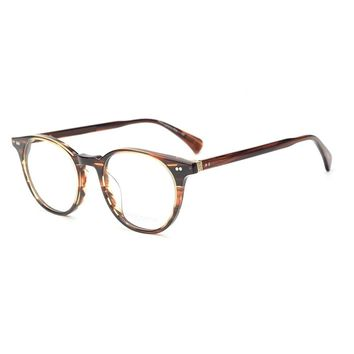 Delray Vintage glasses, ladies glasses, Oliver Peoples glasses shop Gothic eye frames, OV5318 men oval round glasses frames men.