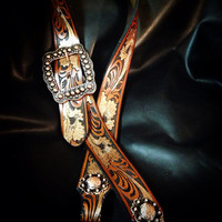 Bronze and brown hand painted tack set