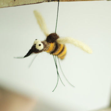 Spring Decoration - One Little Bee  - Needle Felt Bee