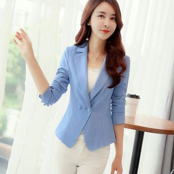 Xmas Clearance on Sale J60910 Fashion Candy Color Wave Lady Blazers and Jackets
