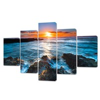 5 Piece scenery Sunrise Modular pictures painting on the wall Art on Canvas Prints wall pictures Home Decor for living room