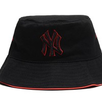 New York Yankees Full Leather Bucket Hats Black