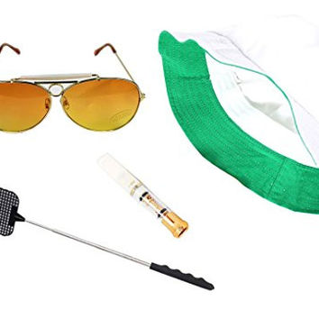 Fear & Loathing Las Vegas Hat Orange Sun Glasses Cigarette Holder Flyswatter