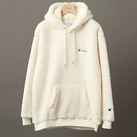 Champion Woman Men Fashion Wool Top Sweater Pullover Hoodie