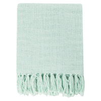 Surya Tilda Mint Throw Blanket