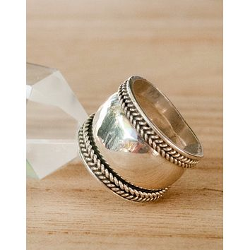 Sterling Silver Statement Ring (BJR051)