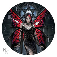 13.5 Anne Stokes Collection Aracnafaria - Gothic Spider Fairy Fantasy Art Wall Clock By Anne Stokes