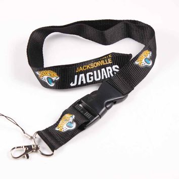 6pcs Jacksonville Jaguars Lanyards Neck Strap For ID Pass Card Badge Gym Key / Mobile Phone USB Holder USA DIY Hang Rope Lanyard
