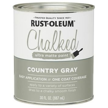 Rust-Oleum® 285141 Chalked Ultra Matte Paint, 30 Oz, Gray