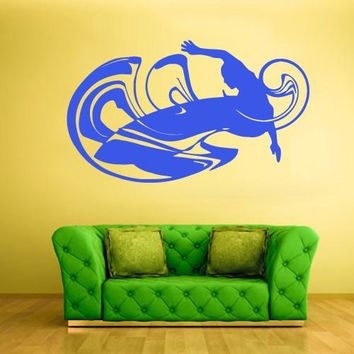 Wall Vinyl Decal Sticker Bedroom Decal Modern Surfer Board Surf Ocean Sea Wind z569