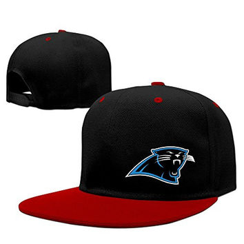 Adult Causal Carolina Panthers Logo Cotton Sun Hat Red One Size For Men And Women