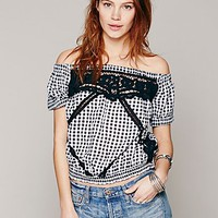 Free People Womens Peggy Sue Crop Top