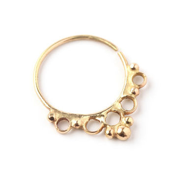 tribal septum jewelry 14k yellow gold - Septum ring - nose ring - tragus - Nose jewelry - tragus - cool christmas gift