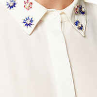 Bejeweled Georgette Shirt