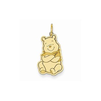 14k Yellow or White Gold Disney Winnie the Pooh Charm