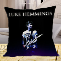 Luke Hemmings Guitar on square pillow cover 16inch 18inch 20inch