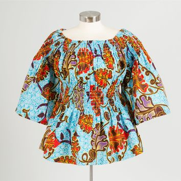 NF 7037 Authentic African Print Top