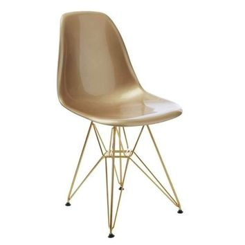 Gold Seat with Gold Metal Legs