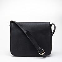 Textured Faux Leather Crossbody
